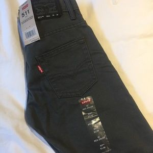 Boys Levi's 511 Slim Grey Jeans Brand New